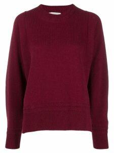 Zucca side slit jumper - Red