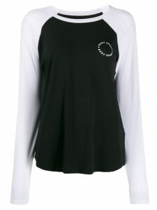 DKNY raglan sleeve jersey top - Black