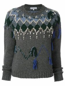 Dice Kayek patterned knit jumper - Grey