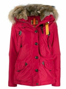 Parajumpers fur trimmed padded coat - Red