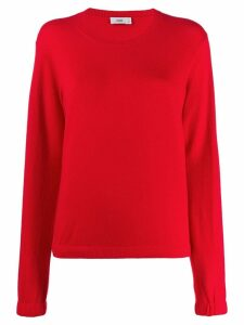 Closed relaxed-fit crew neck jumper - Red