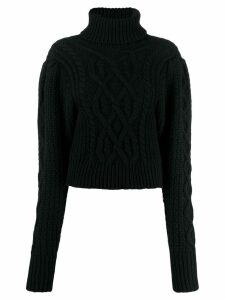 Wandering cable-knit roll neck sweater - Black