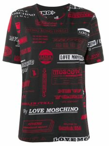 Love Moschino travel print T-shirt - Black
