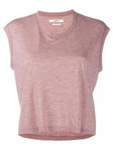 Isabel Marant Étoile cropped round neck T-shirt - PINK
