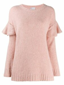 RedValentino ruffled shoulder jumper - PINK