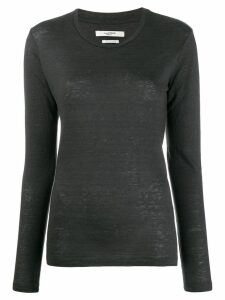 Isabel Marant Étoile round neck jersey top - Grey