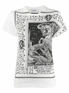 LANVIN dragon and knight print T-shirt - White