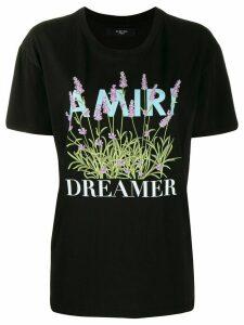AMIRI floral logo T-shirt - Black