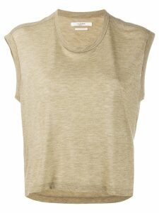 Isabel Marant Étoile cropped round neck T-shirt - Green