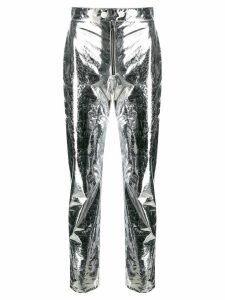 MSGM metallic cropped trousers