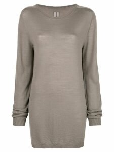 Rick Owens oversized long-sleeve sweater - Grey