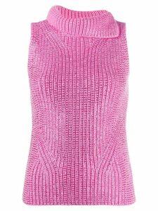 Ermanno Scervino rhinestone knit top - PINK