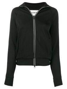 Iceberg logo zip sweater - Black