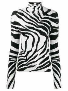 Just Cavalli zebra roll neck jumper - Black