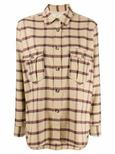 Isabel Marant Étoile oversized plaid shirt - Neutrals