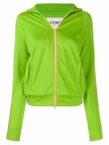 Iceberg logo zip sweater - Green