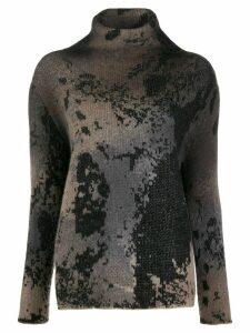 Avant Toi intarsia knit jumper - NEUTRALS