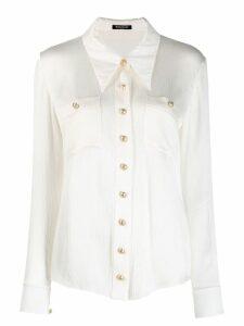 Balmain plisse tailored shirt - White