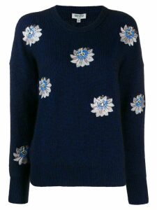 Kenzo embroidered floral jumper - Blue