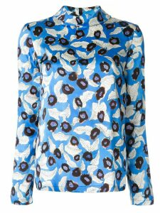 Christian Wijnants floral print long sleeve top - Blue