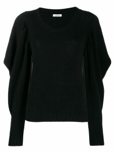 P.A.R.O.S.H. draped sleeve jumper - Black