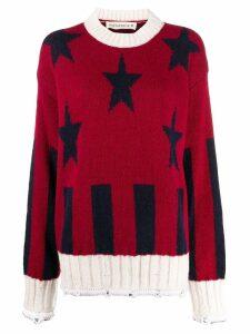Shirtaporter star pattern jumper - Red