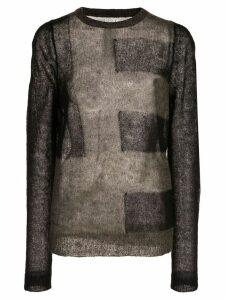 Rick Owens fine knit jumper - Black
