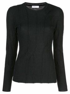 Rosetta Getty geometric knit jumper - Black