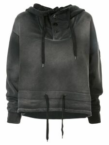Nº21 faded drawstring hoodie - Grey