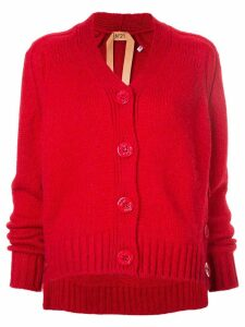 Nº21 side button cardigan - Red