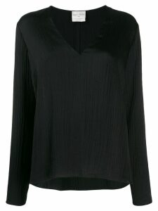 Forte Forte V-neck ribbed blouse - Black