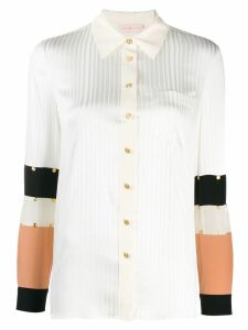 Tory Burch studded patchwork shirt - White