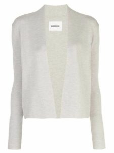 Jil Sander open front knitted cardigan - Grey