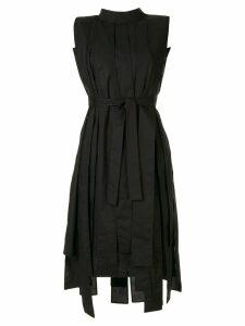 Symetria Elevate belted dress - Black