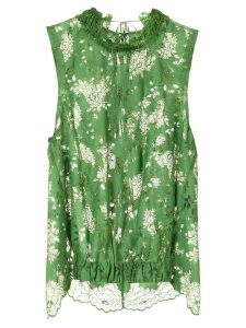 Ann Demeulemeester priss lace top - Green