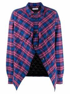 Balenciaga Swing Canadian plaid shirt - Blue