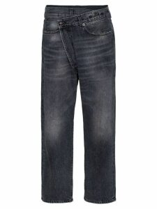 R13 Leyton crossover-front jeans - Black