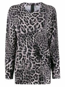 Norma Kamali leopard print blouse - Grey