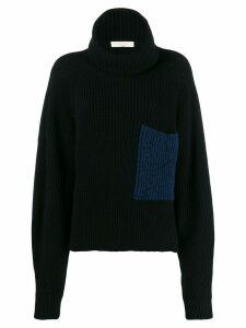 Ssheena roll neck knitted jumper - Black