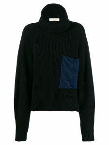 Ssheena roll neck knitted jumper - Black