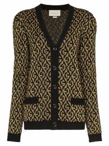 Gucci diamond-pattern G logo cardigan - Black