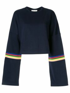 Être Cécile Rainbow cropped sweatshirt - Blue