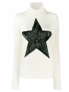 P.A.R.O.S.H. sequinned star jumper - White
