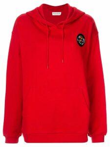 Être Cécile logo patch hoodie - Red