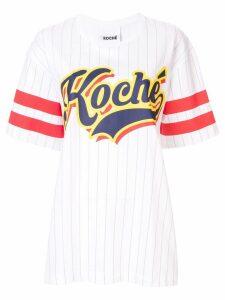 Koché Baseball print T-shirt - White