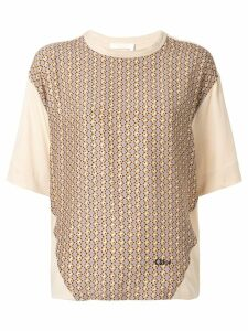 Chloé geometric print T-shirt - Yellow