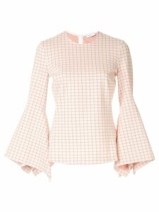 Rosetta Getty flared sleeve blouse - PINK