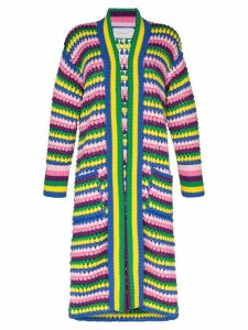 Mira Mikati stripe crochet cardigan - Multicolour