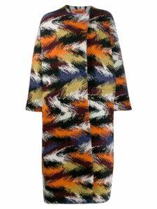 Missoni knitted oversized coat - Orange