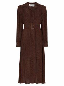 Rotate polka-dot print shirt dress - Brown